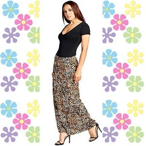 Animal Print Maxi Skirt Women's Maxi Skirt